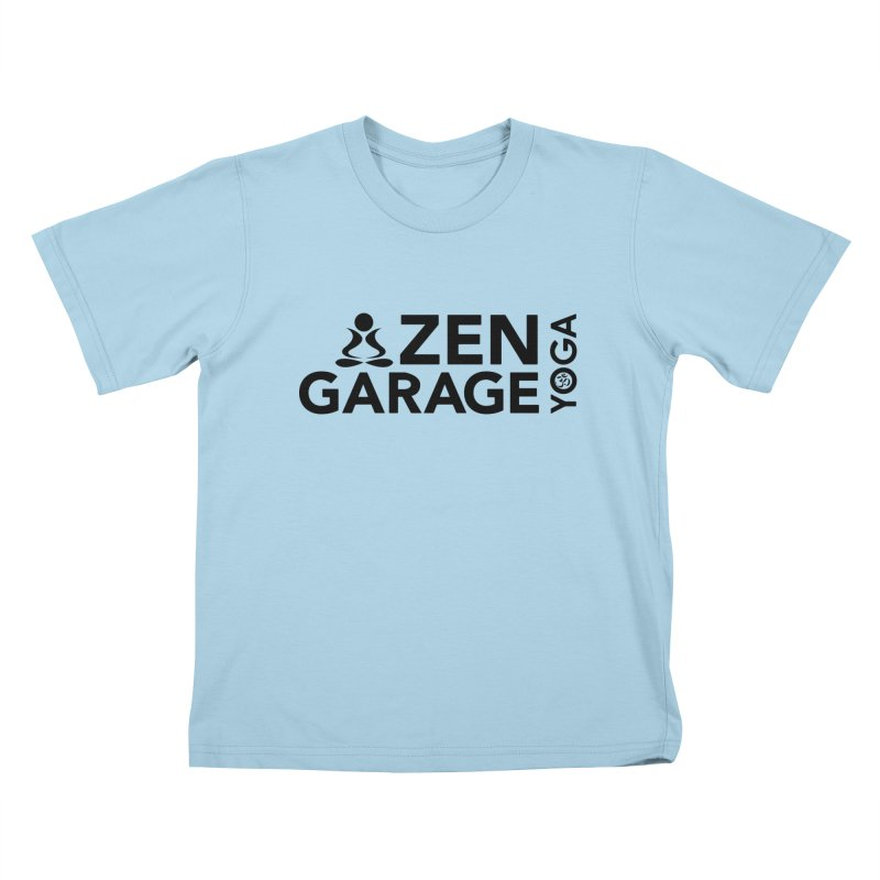 ZYG logo black Kids T-Shirt by zenyogagarage's Artist Shop