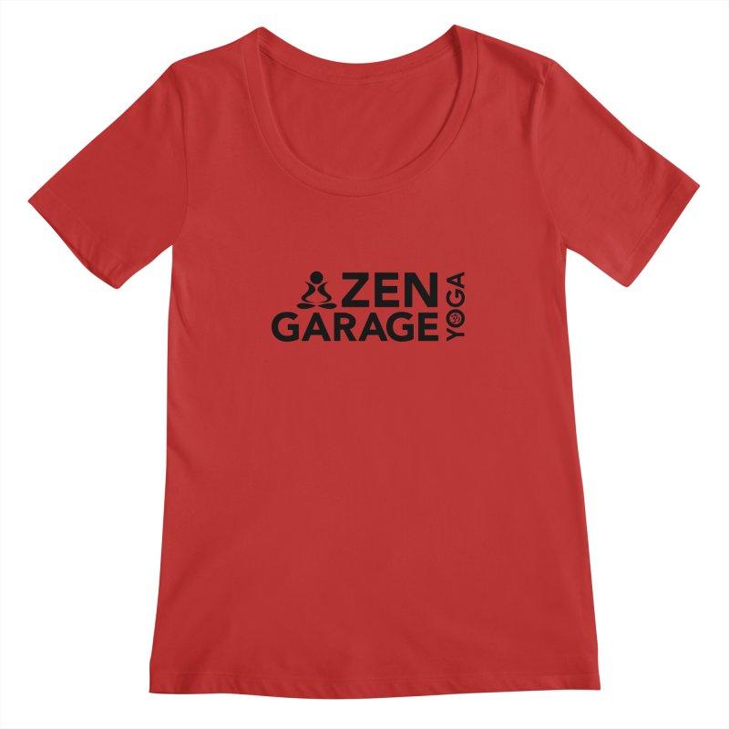 ZYG logo black Women's Scoopneck by zenyogagarage's Artist Shop