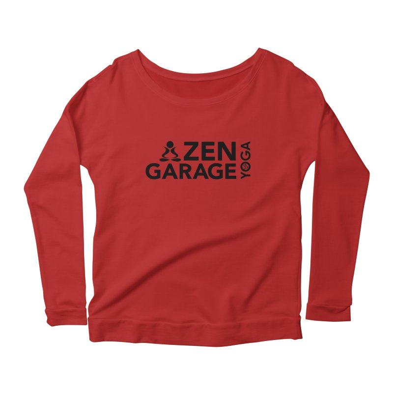 ZYG logo black Women's Longsleeve Scoopneck  by zenyogagarage's Artist Shop