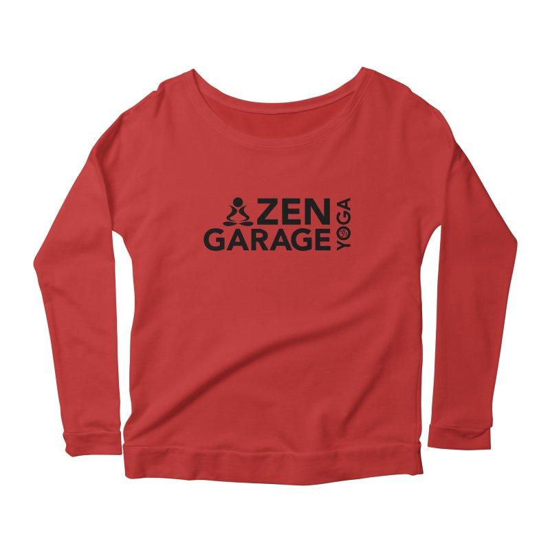 ZYG logo black Women's Scoop Neck Longsleeve T-Shirt by zenyogagarage's Artist Shop