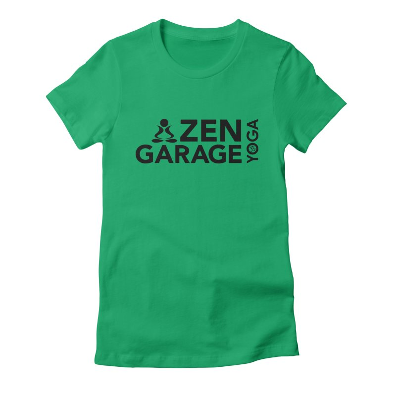 ZYG logo black Women's Fitted T-Shirt by zenyogagarage's Artist Shop
