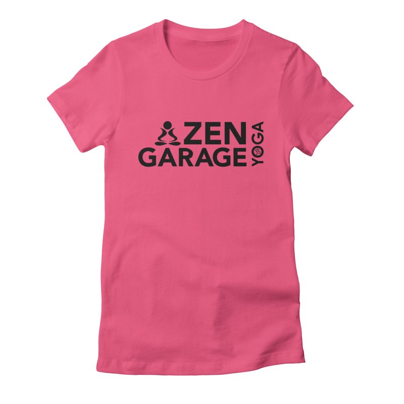 ZYG logo black Women's Fitted T-Shirt by zenyogagarage's Artist Shop