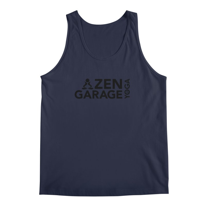 ZYG logo black Men's Tank by zenyogagarage's Artist Shop