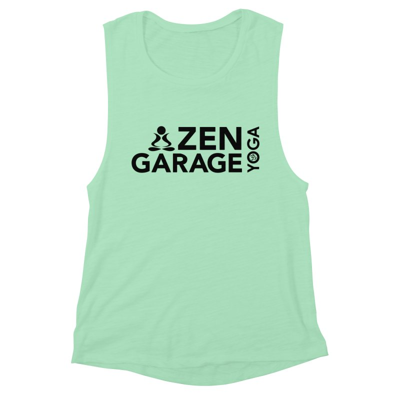 ZYG logo black Women's Muscle Tank by zenyogagarage's Artist Shop