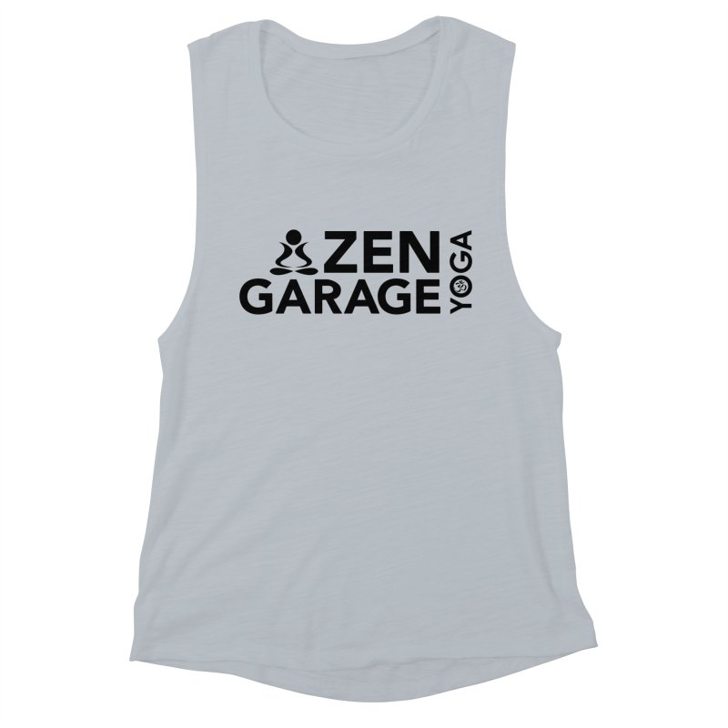 ZYG logo black Women's Muscle Tank by zenyogagarage's Artist Shop