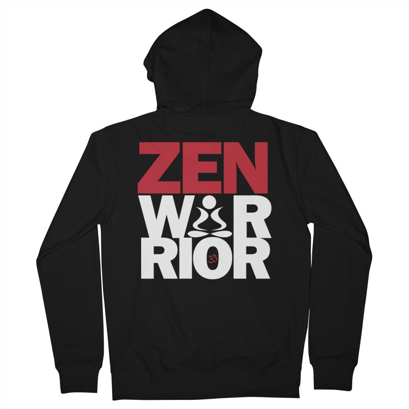 ZenWarrior Men's French Terry Zip-Up Hoody by zenyogagarage's Artist Shop