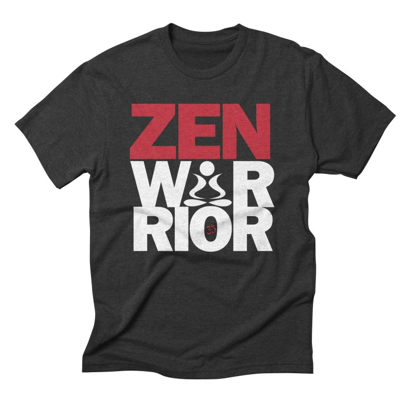 ZenWarrior in Men's Triblend T-Shirt Heather Onyx by zenyogagarage's Artist Shop