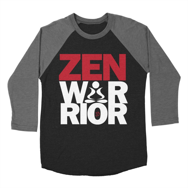 ZenWarrior Men's Baseball Triblend T-Shirt by zenyogagarage's Artist Shop