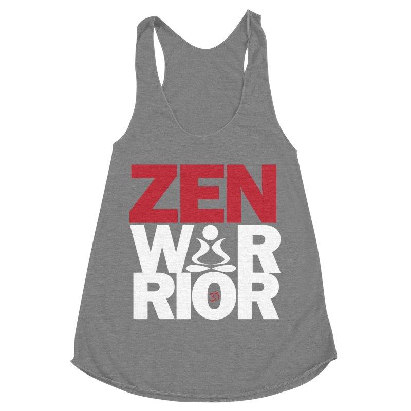 ZenWarrior Women's Racerback Triblend Tank by zenyogagarage's Artist Shop