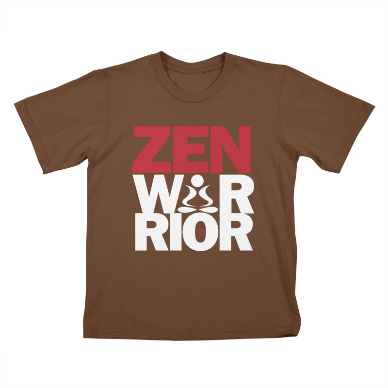 ZenWarrior Kids T-Shirt by zenyogagarage's Artist Shop