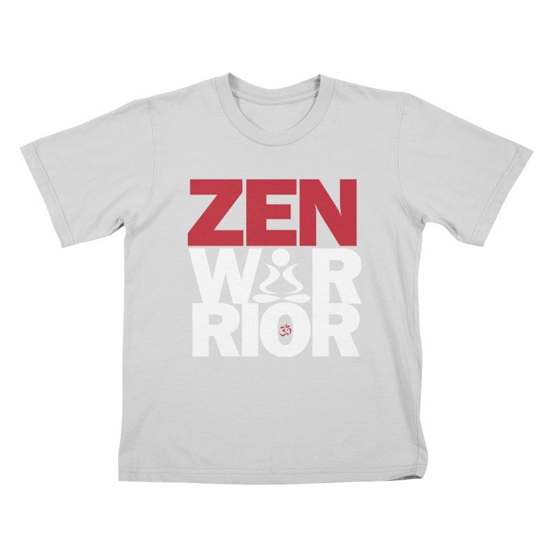 ZenWarrior Kids T-Shirt by zenyogagarage's Artist Shop