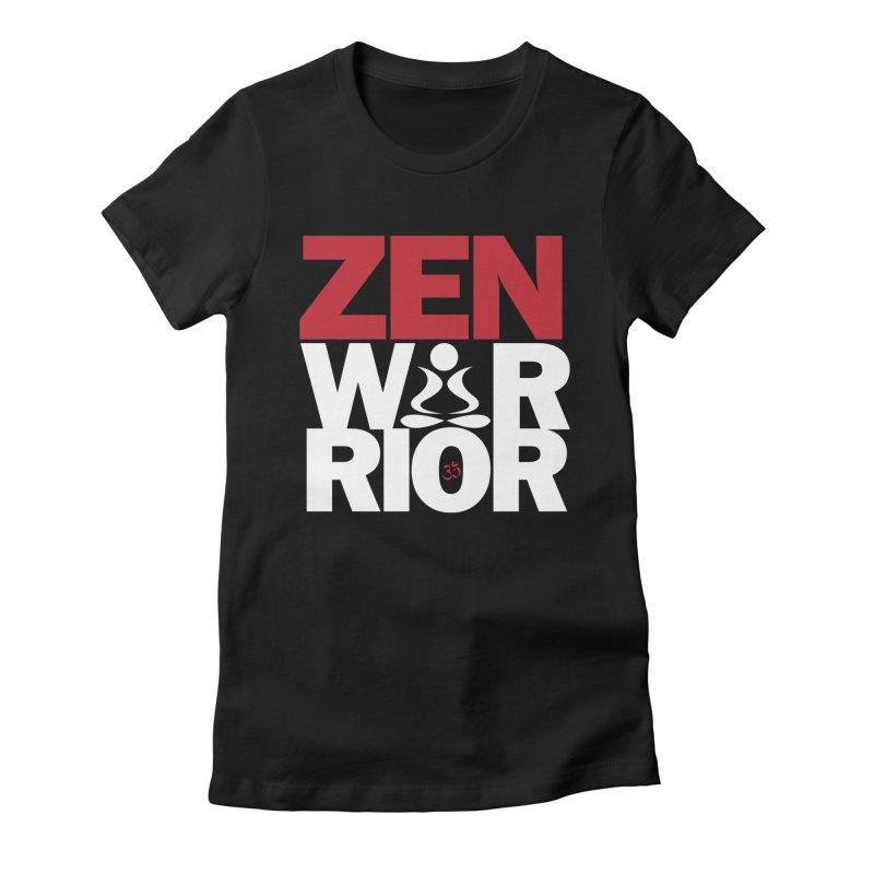 ZenWarrior Women's Fitted T-Shirt by zenyogagarage's Artist Shop