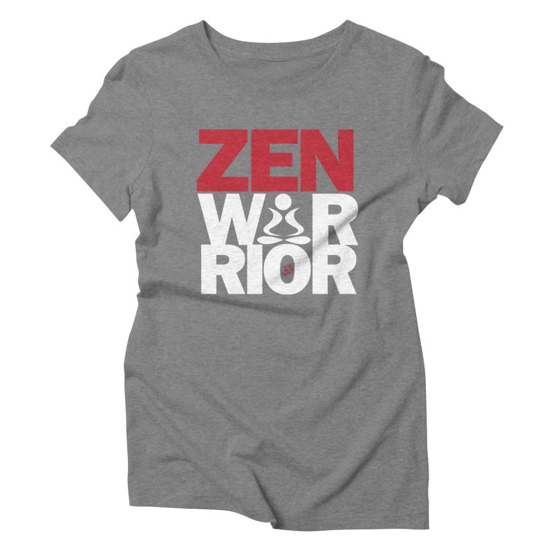 ZenWarrior Women's Triblend T-Shirt by zenyogagarage's Artist Shop