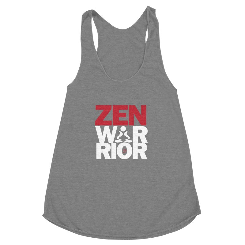 ZenWarrior Women's Racerback Triblend Tank by zenyogagarage's Artist Shop