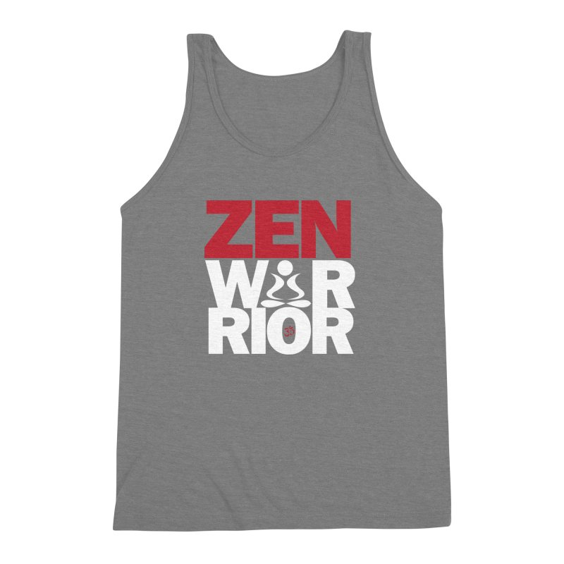 ZenWarrior Men's Triblend Tank by zenyogagarage's Artist Shop