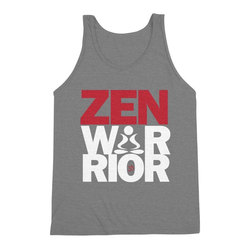 ZenWarrior Men's Triblend Tank by zenyogagarage's Artist Shop