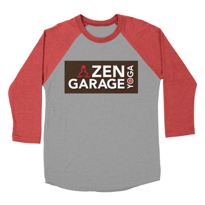 ZYG Logo in Women's Baseball Triblend Longsleeve T-Shirt Chili Red Sleeves by zenyogagarage's Artist Shop