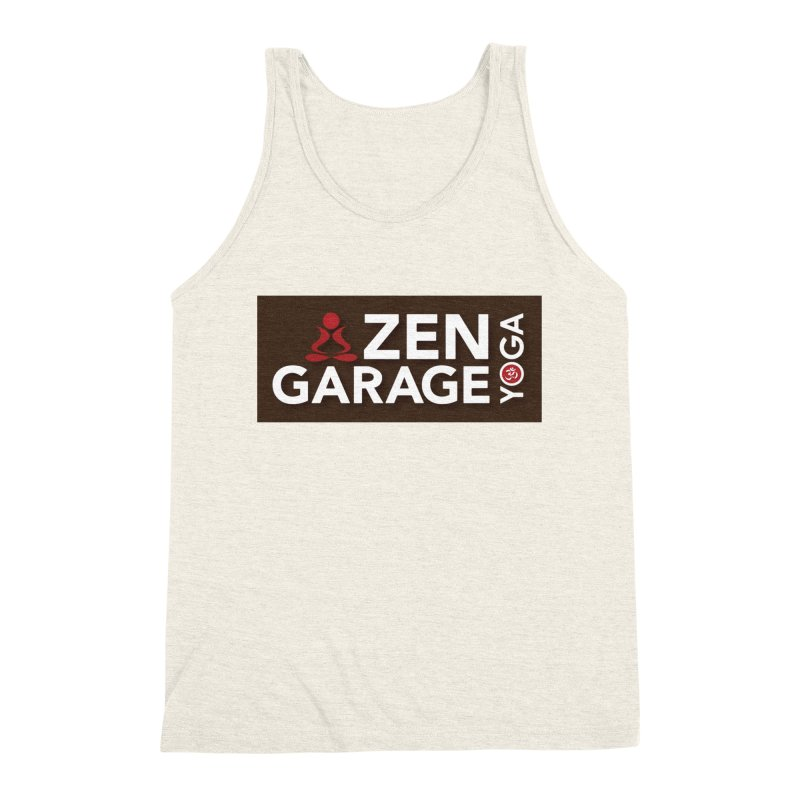 ZYG Logo Men's Triblend Tank by zenyogagarage's Artist Shop