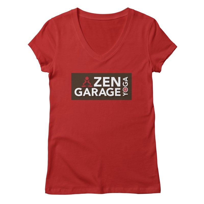 ZYG Logo Women's V-Neck by zenyogagarage's Artist Shop