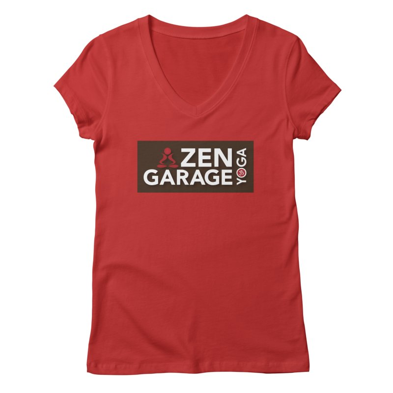 ZYG Logo Women's V-Neck by zenyogagarage's Artist Shop