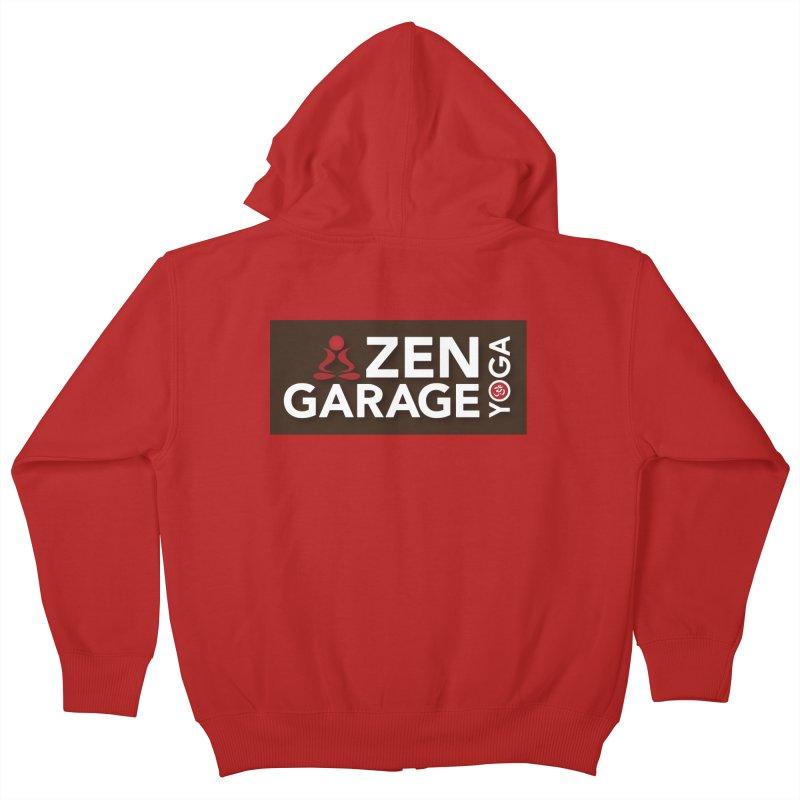 ZYG Logo Kids Zip-Up Hoody by zenyogagarage's Artist Shop