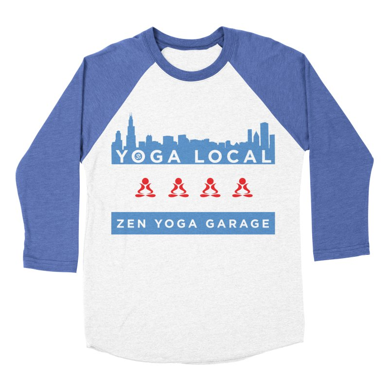 LocalYoga Men's Baseball Triblend T-Shirt by zenyogagarage's Artist Shop