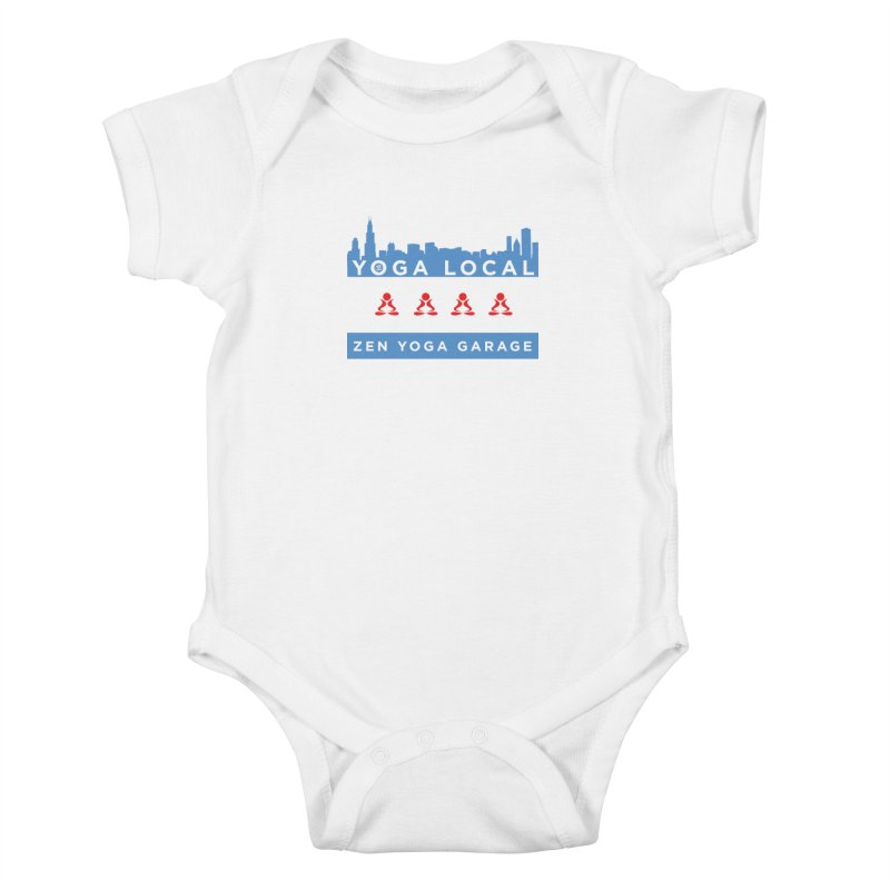 LocalYoga Kids Baby Bodysuit by zenyogagarage's Artist Shop