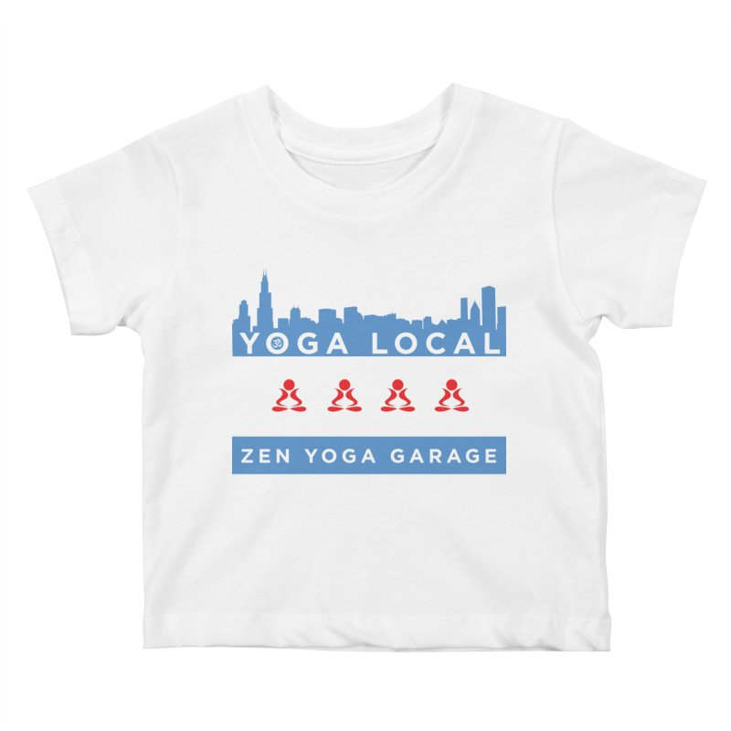 LocalYoga Kids Baby T-Shirt by zenyogagarage's Artist Shop