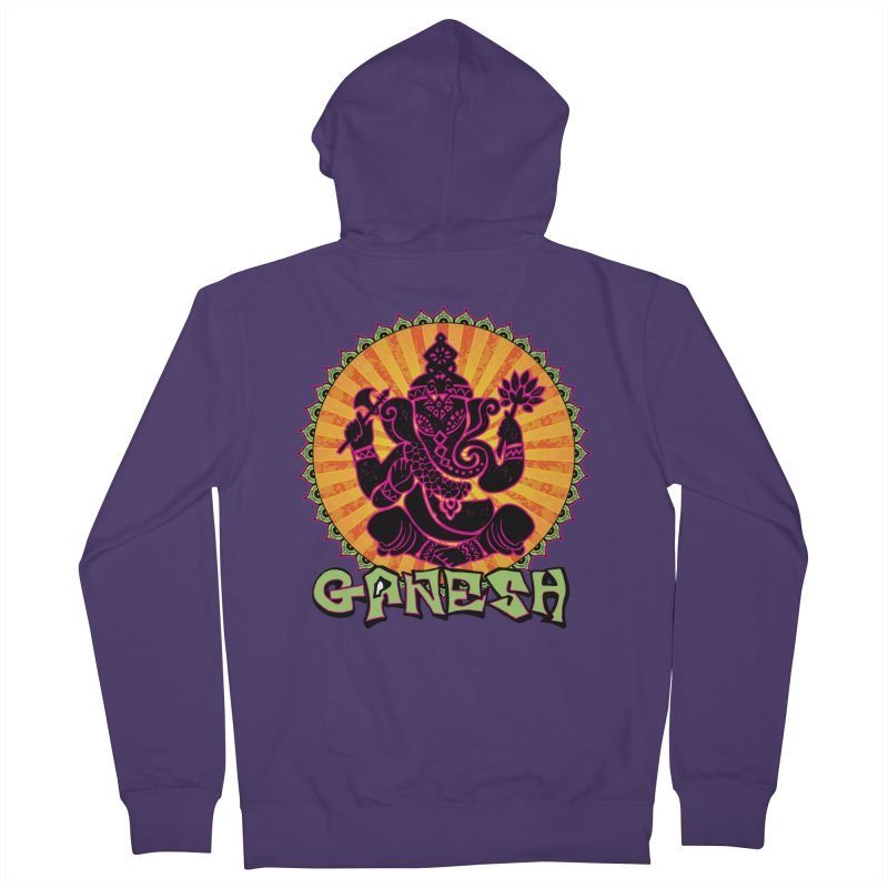 Ganesh is Fresh Women's French Terry Zip-Up Hoody by zenyogagarage's Artist Shop