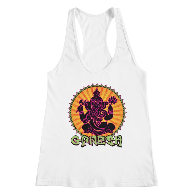 Ganesh is Fresh Women's Racerback Tank by zenyogagarage's Artist Shop