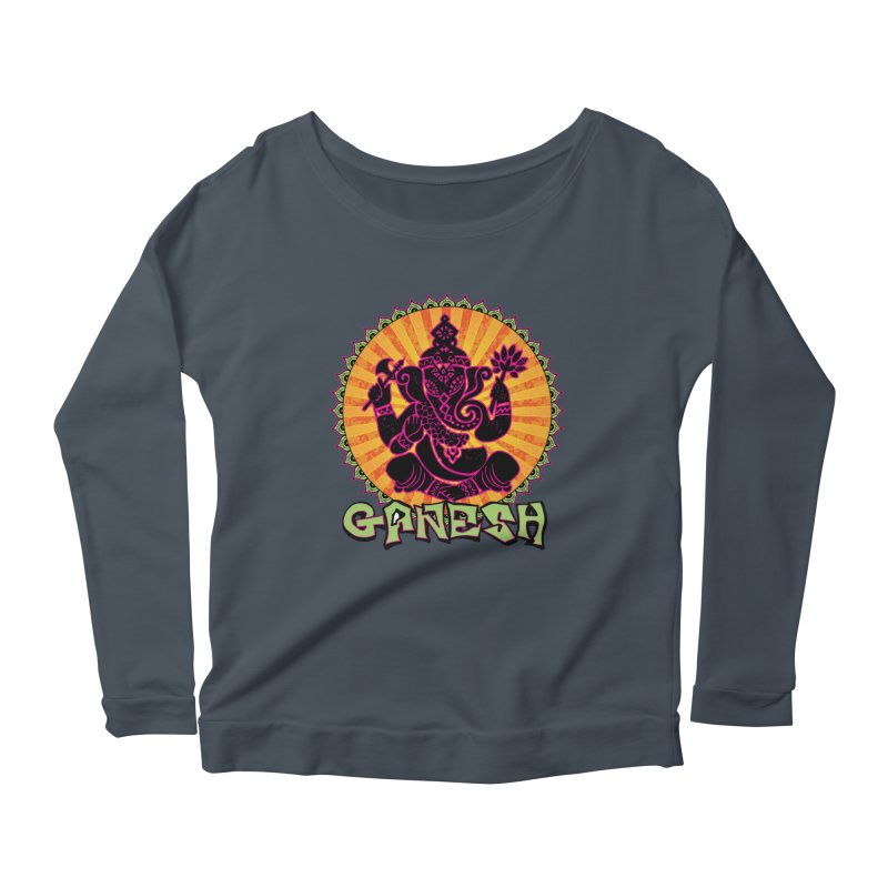 Ganesh is Fresh Women's Longsleeve Scoopneck  by zenyogagarage's Artist Shop