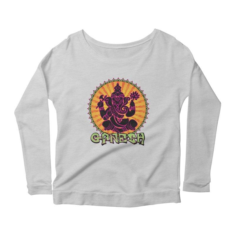 Ganesh is Fresh Women's Longsleeve Scoopneck  by zenyogagarage's Artist Shop