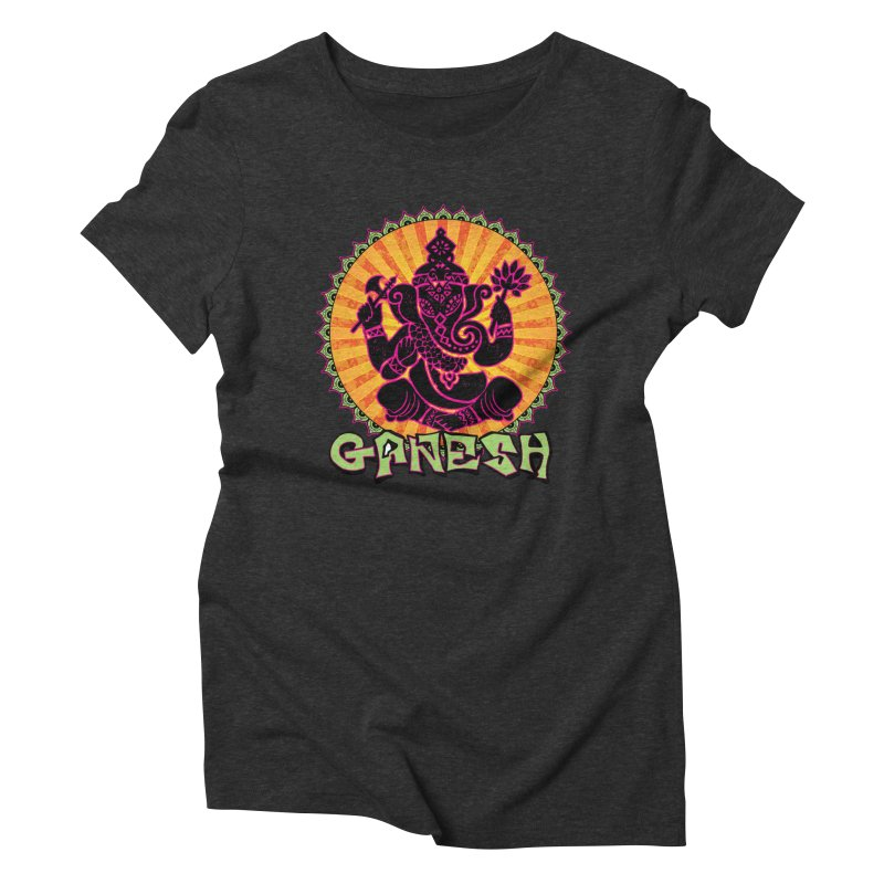 Ganesh is Fresh Women's Triblend T-Shirt by zenyogagarage's Artist Shop