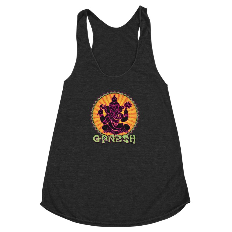 Ganesh is Fresh Women's Racerback Triblend Tank by zenyogagarage's Artist Shop