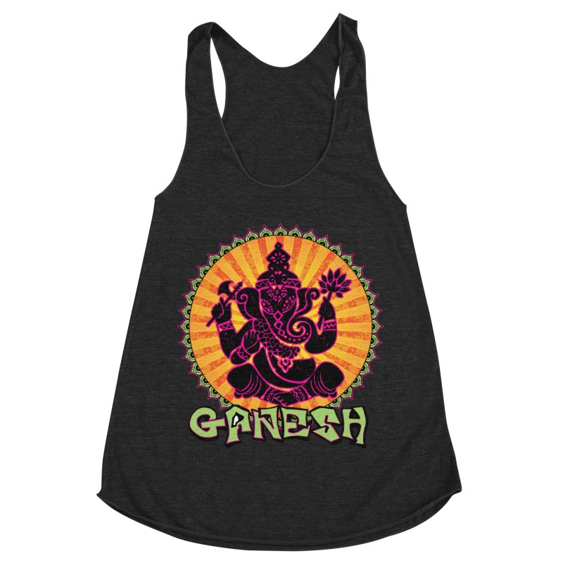 Ganesh is Fresh Women's Racerback Triblend Tank by zenyogagarage's Artist Shop