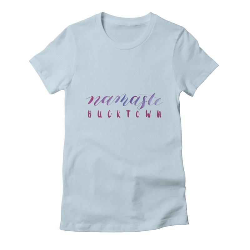 Namaste Bucktown Women's Fitted T-Shirt by zenyogagarage's Artist Shop