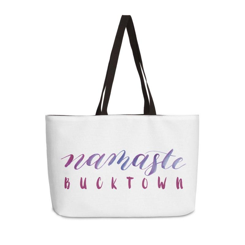 Namaste Bucktown Accessories Bag by zenyogagarage's Artist Shop