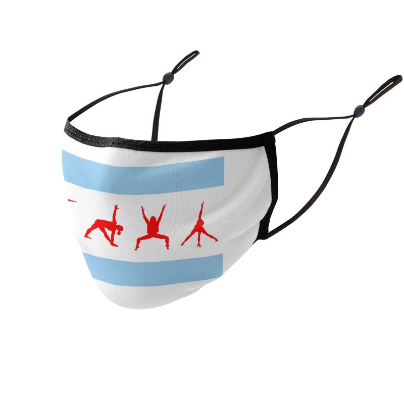 Chicago Flag Accessories Face Mask by zenyogagarage's Artist Shop