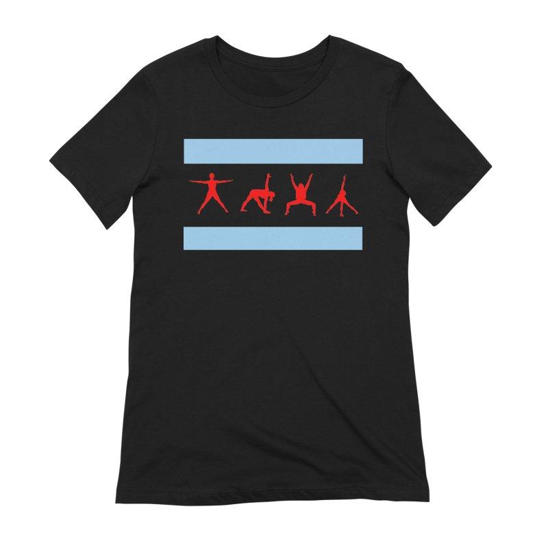 Chicago Flag Women's T-Shirt by zenyogagarage's Artist Shop