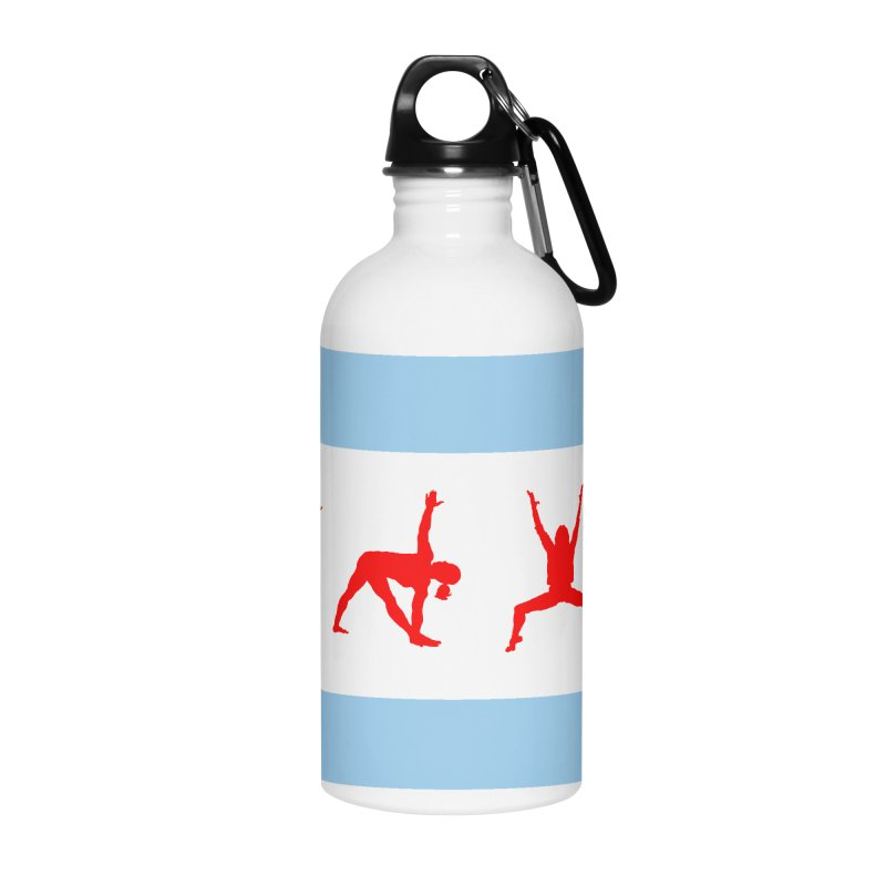 Chicago Flag Accessories Water Bottle by zenyogagarage's Artist Shop