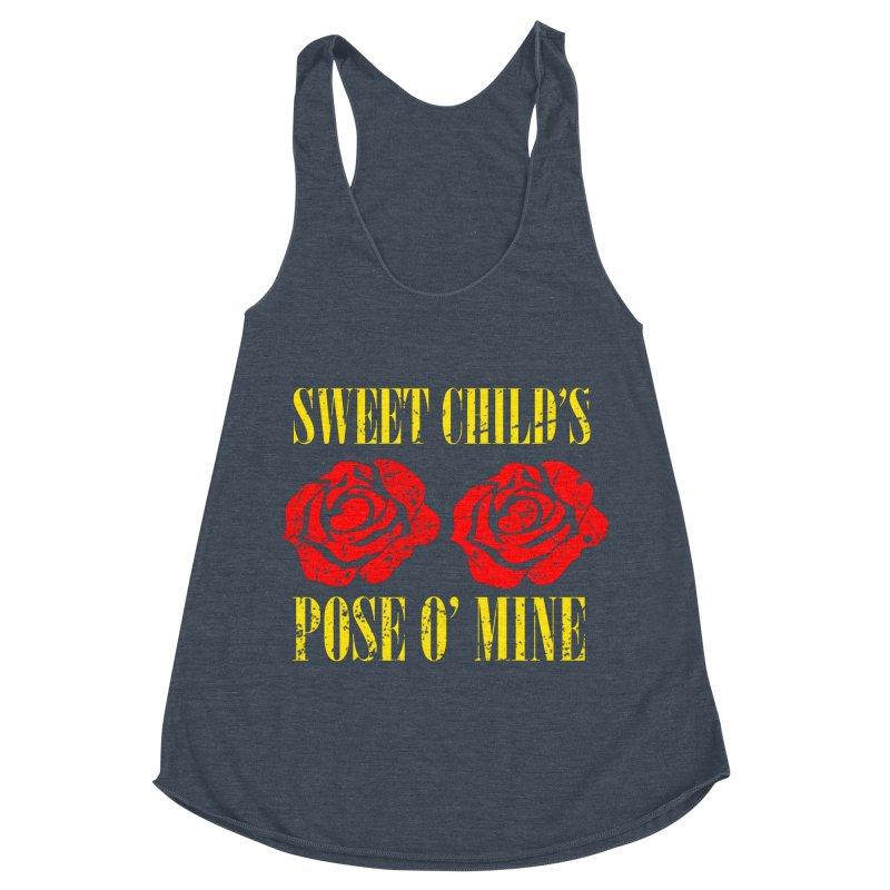 Sweet Child's Pose O' Mine Women's Racerback Triblend Tank by zenyogagarage's Artist Shop