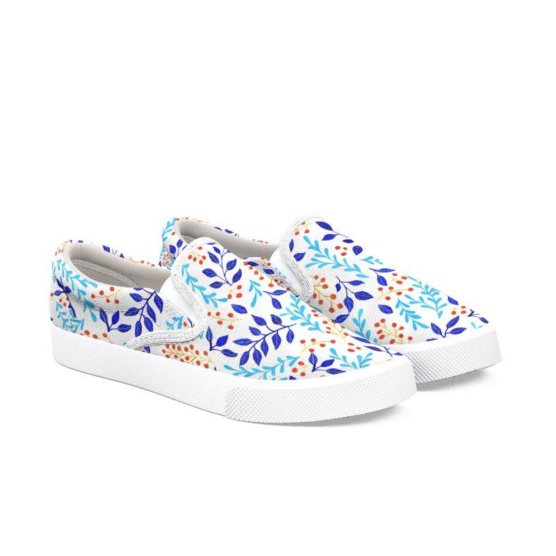 Winter Pattern Women's Slip-On Shoes by zephyrra's Artist Shop