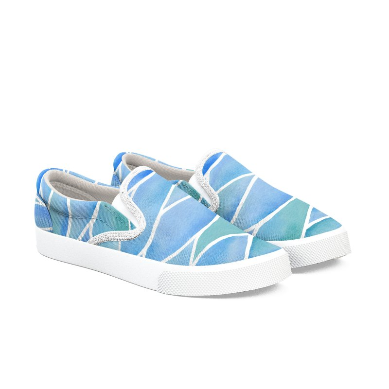 Lake Surface Women's Slip-On Shoes by zephyrra's Artist Shop