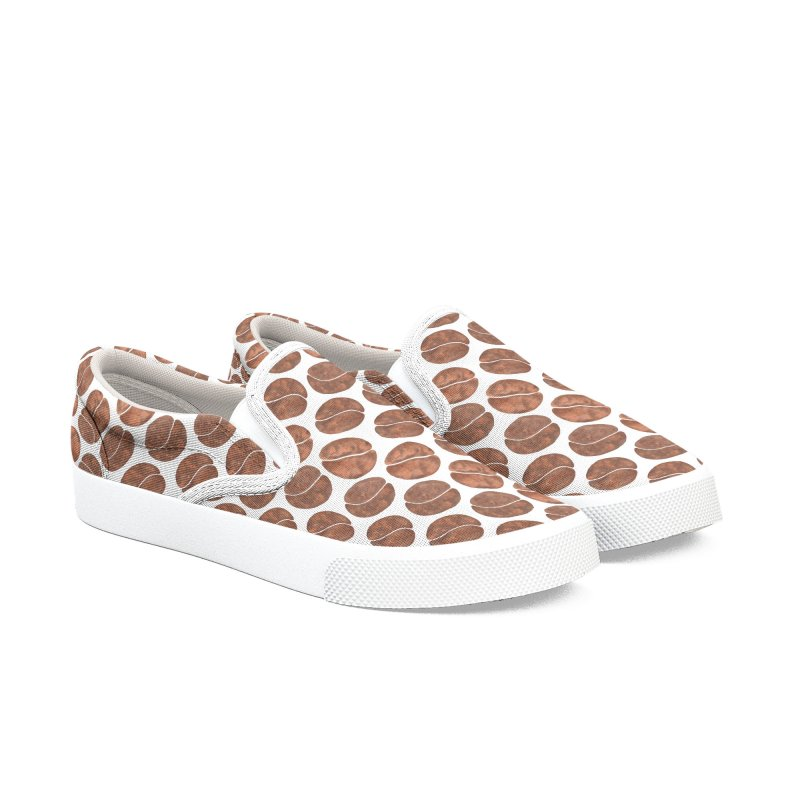 Coffee Beans Women's Slip-On Shoes by zephyrra's Artist Shop