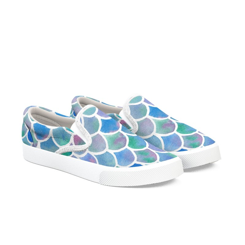 Mermaid Tail Women's Slip-On Shoes by zephyrra's Artist Shop