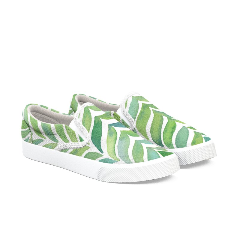 Leaf Branches Women's Slip-On Shoes by zephyrra's Artist Shop