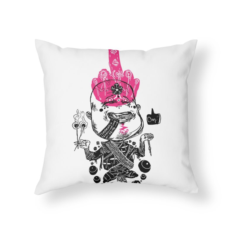 Blissed Off Home Throw Pillow by Zeph Zero's Armory Shop
