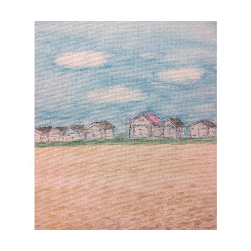 Cooden Beach Huts Home Throw Pillow by Zerah