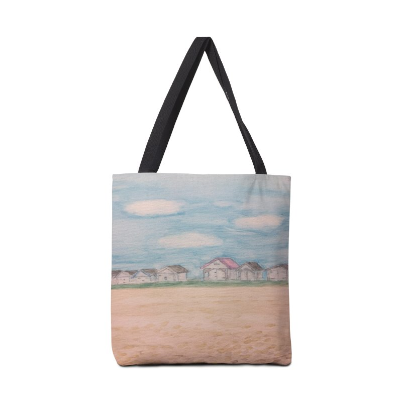 Cooden Beach Huts in Tote Bag by Zerah