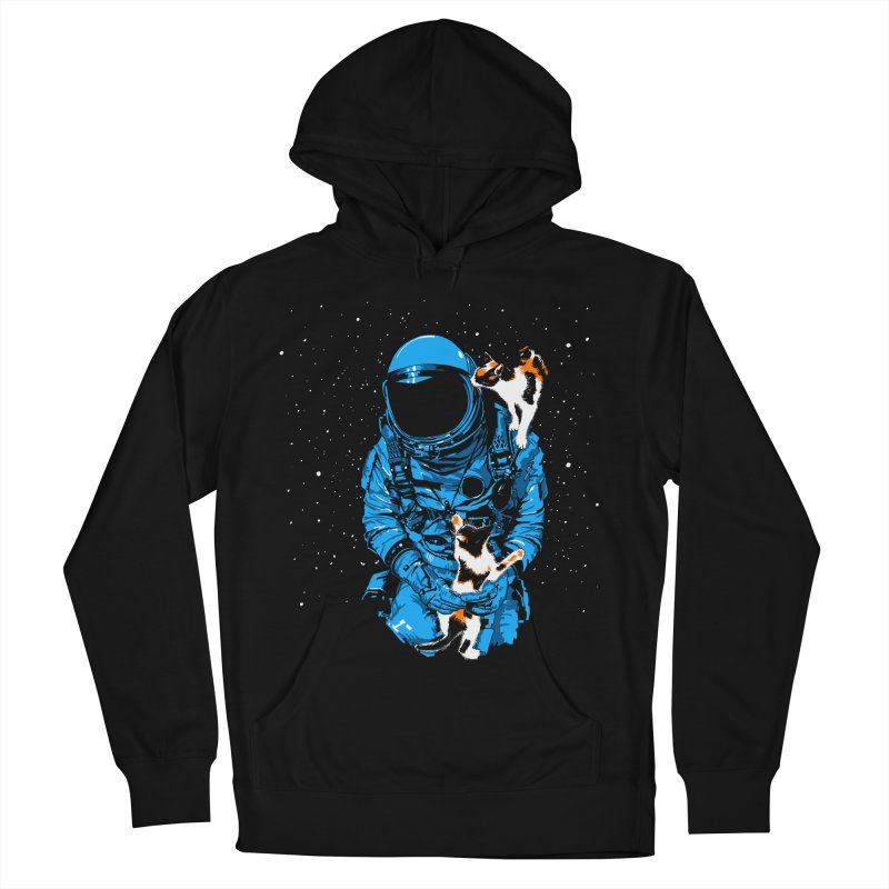 Meow More Space Women's French Terry Pullover Hoody by zerobriant's Meow Shop